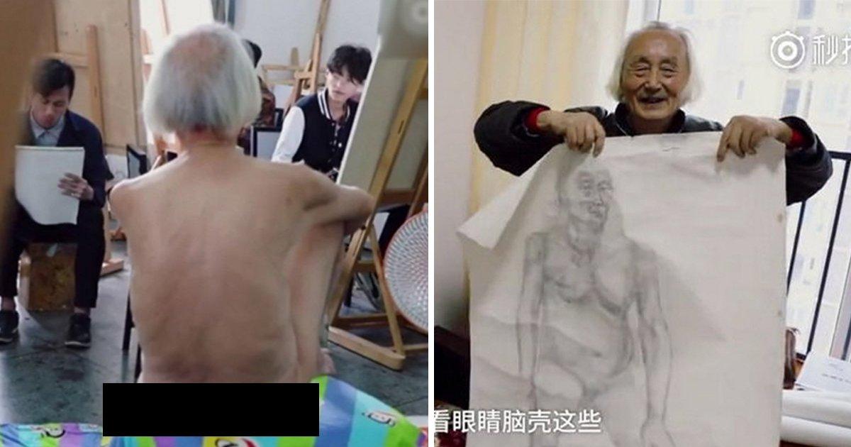 article thumbnail 12.jpg?resize=1200,630 - Homem de 88 anos se torna um modelo de nu artístico e seus filhos o abandonam