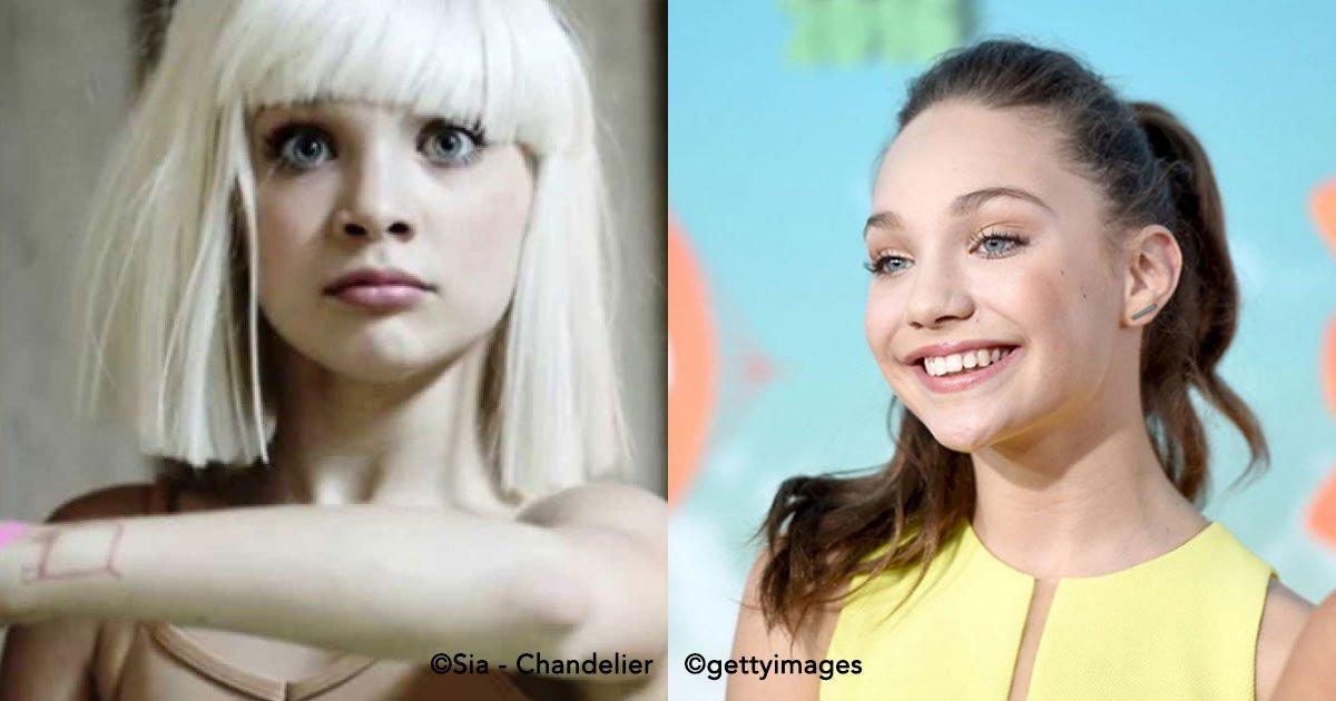"""c0ver - Maddie, la bailarina del videoclip """"Chandelier"""", se dedicará a la actuación"""