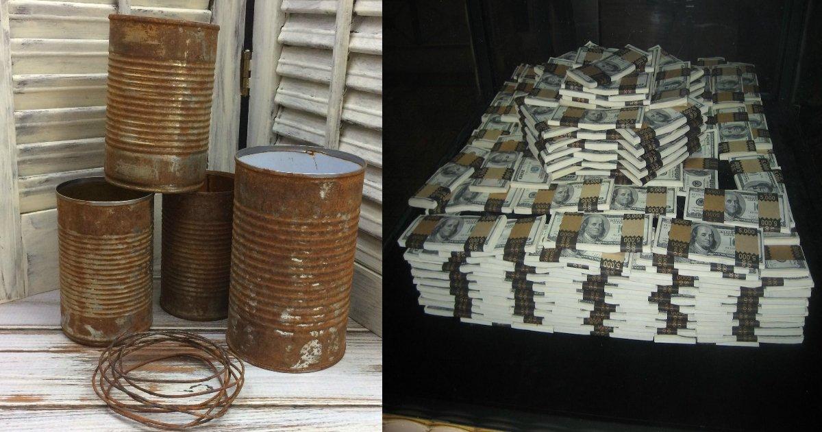 cansworthfortune.jpg?resize=648,365 - Un couple trouve une vieille boîte de conserve d'une valeur de 10 000 000 $ lors d'une promenade