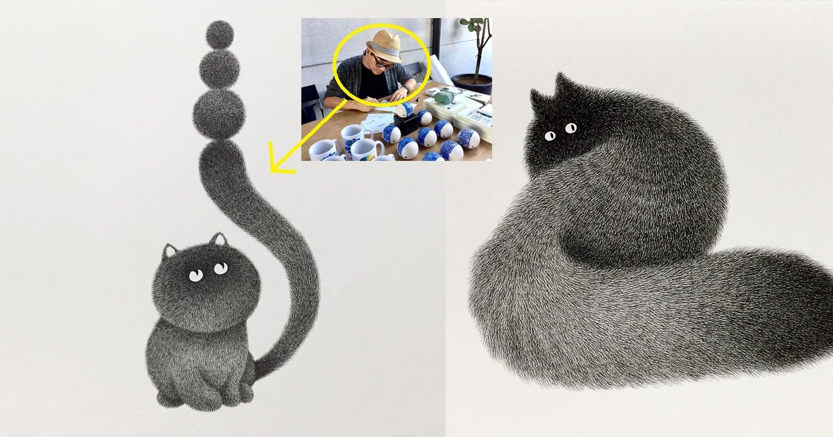 cats.jpg?resize=300,169 - This Artist Creating The Textured Fluffy Cats With Just Ink Has Taken The Internet By Storm