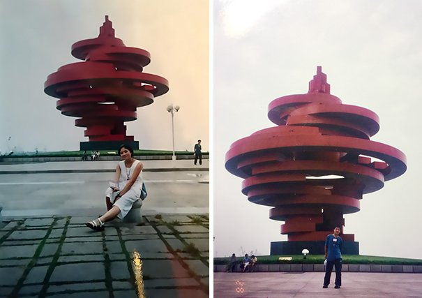 chengdu couple meeting unknowingly 11 years before tourist photo 10 5aa651123dbb0  605.jpg?resize=1200,630 - Serendipitia! Casal descobre que seus caminhos se cruzaram bem antes de se conhecerem