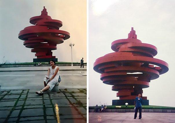 chengdu couple meeting unknowingly 11 years before tourist photo 10 5aa651123dbb0  605.jpg?resize=412,232 - Serendipitia! Casal descobre que seus caminhos se cruzaram bem antes de se conhecerem