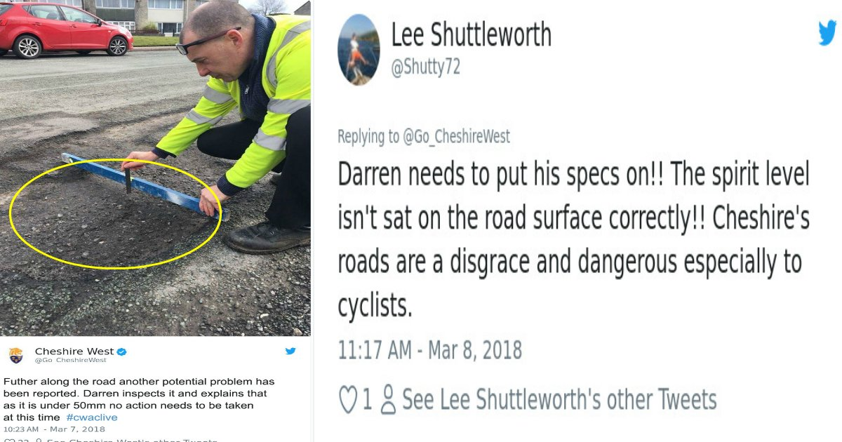 cheshire featured - The Internet Cannot Stop Talking About How This County Deals With Potholes In Their Roads