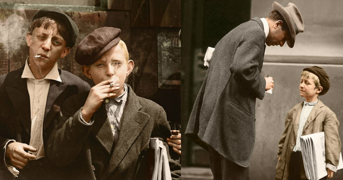 childrenhardship.jpg?resize=300,169 - The Best Results Received By Coloring These 100+ Years Old Photos Of American Children.