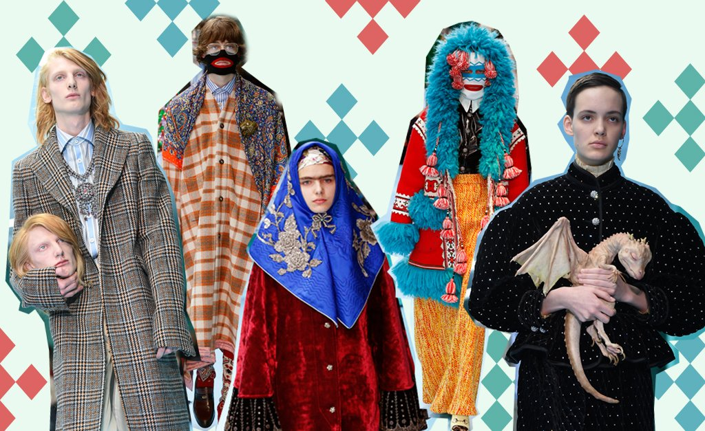 cine gucci - Modelos carregam réplicas de suas cabeças em desfile de moda