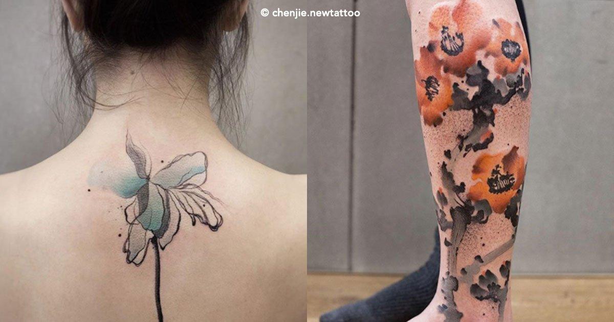 cover 1 - Artista china crea tatuajes con una exótica técnica de acuarela, los resultados son impactantes