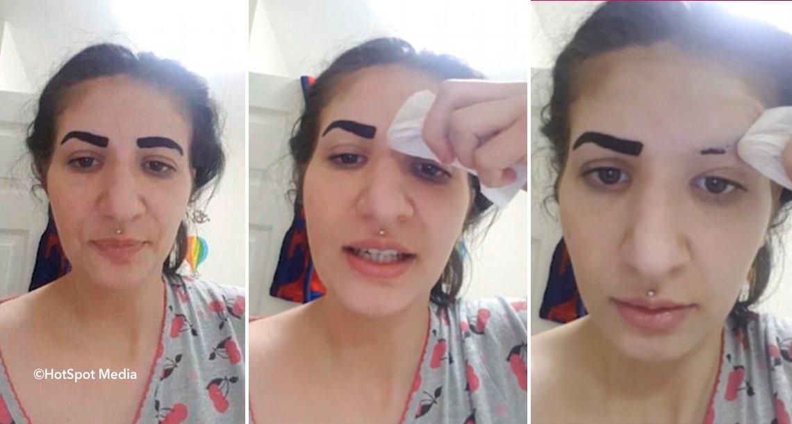 cover 4cejas.png?resize=648,365 - Ela comprou tinta para suas sobrancelhas mas não leu as instruções de uso - resultado: seu rosto ficou destruído!