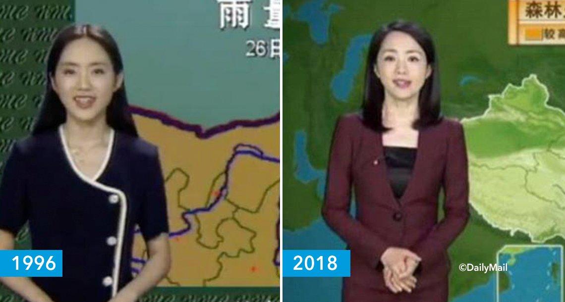 cover 4clima.png?resize=1200,630 - Presentadora del clima china sigue exactamente igual aunque hayan pasado 22 años