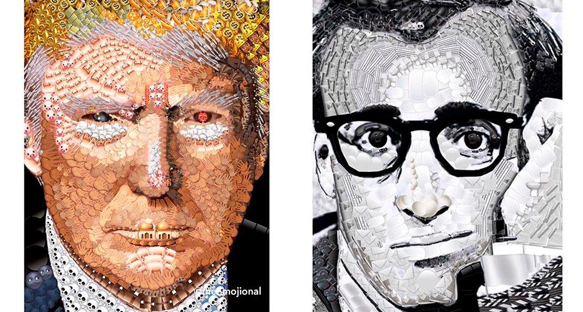 """cover 4emoji.png?resize=648,365 - La artista que """"pinta"""" retratos utilizando emojis"""