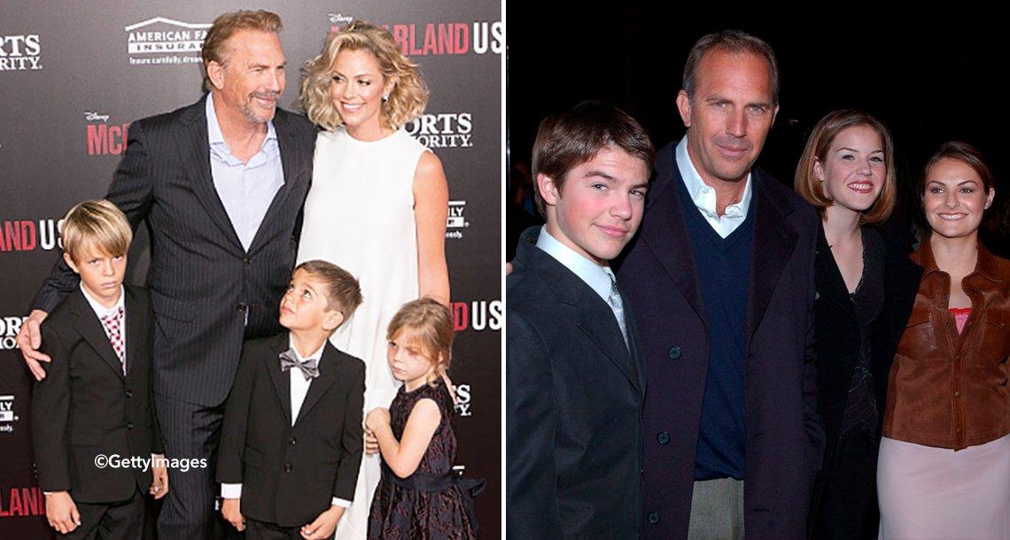 cover 4kevincos - El actor Kevin Costner con 7 hijos ahora se dedica al reto más grande, cuidar a su gran familia