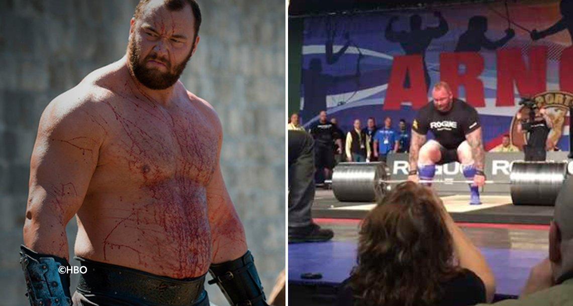 "cover 4mont - ""La Montaña"" de Game of Thrones batió un increíble récord mundial levantando 472 kilos"