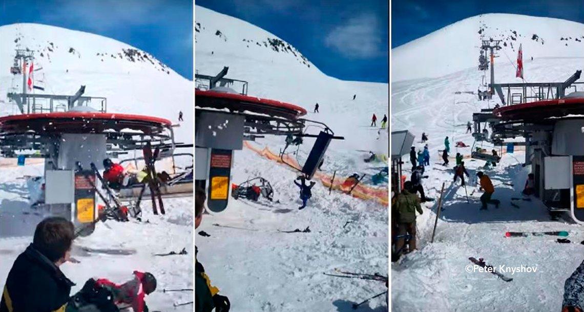 cover 4telesilla - Las aerosillas de un centro de esquí pierden el control y provocan que las personas salgan volando