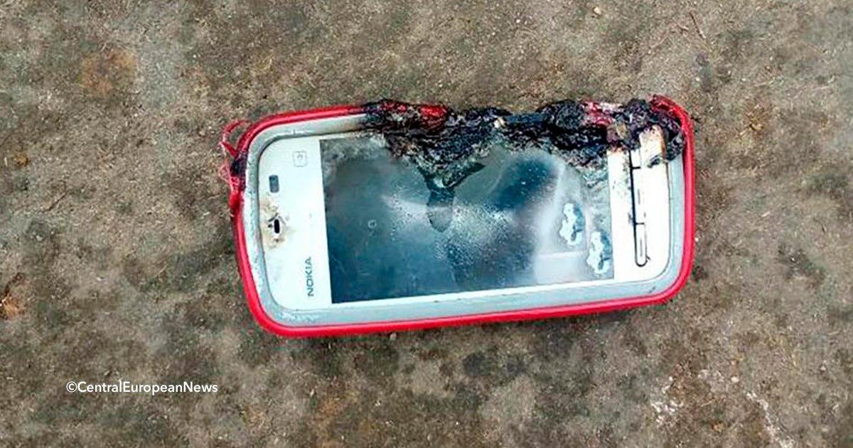 cover22cel - Le explotó el celular en la cara mientras hablaba y falleció en el acto
