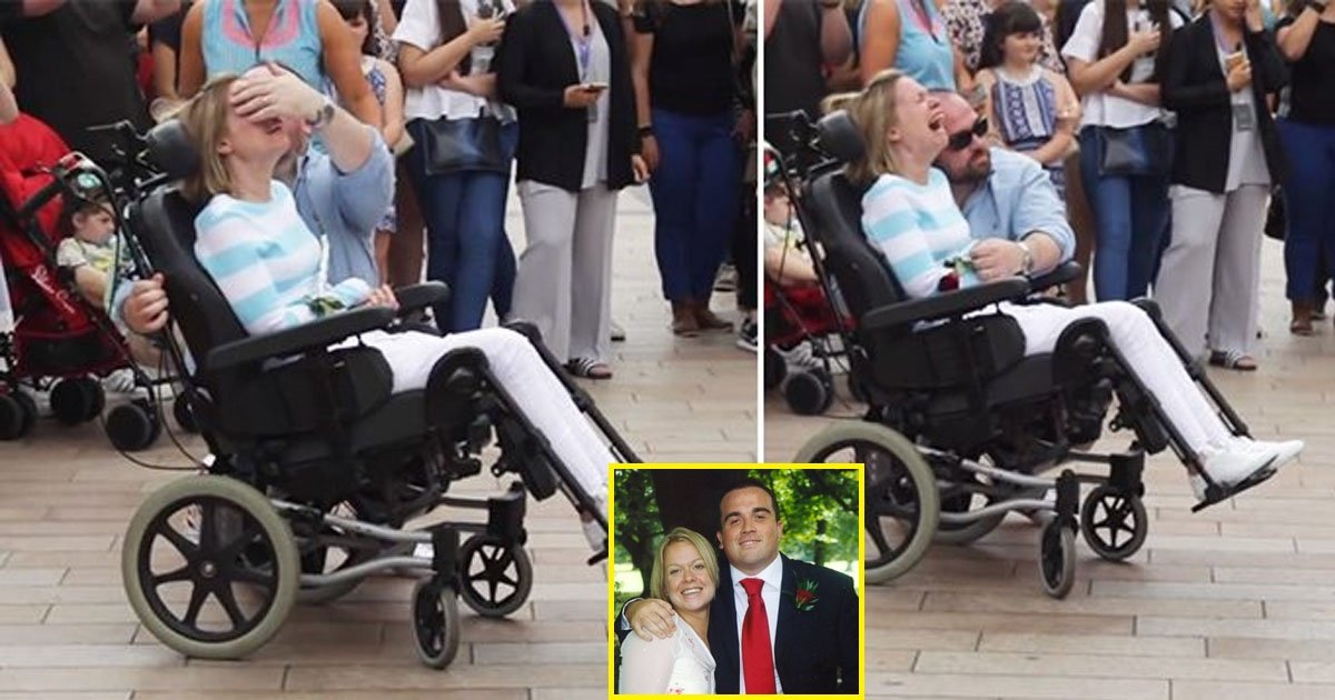 disabled.jpg?resize=412,232 - Disabled Woman Gets a Surprise From Husband When She Goes Shopping for her 10th Anniversary