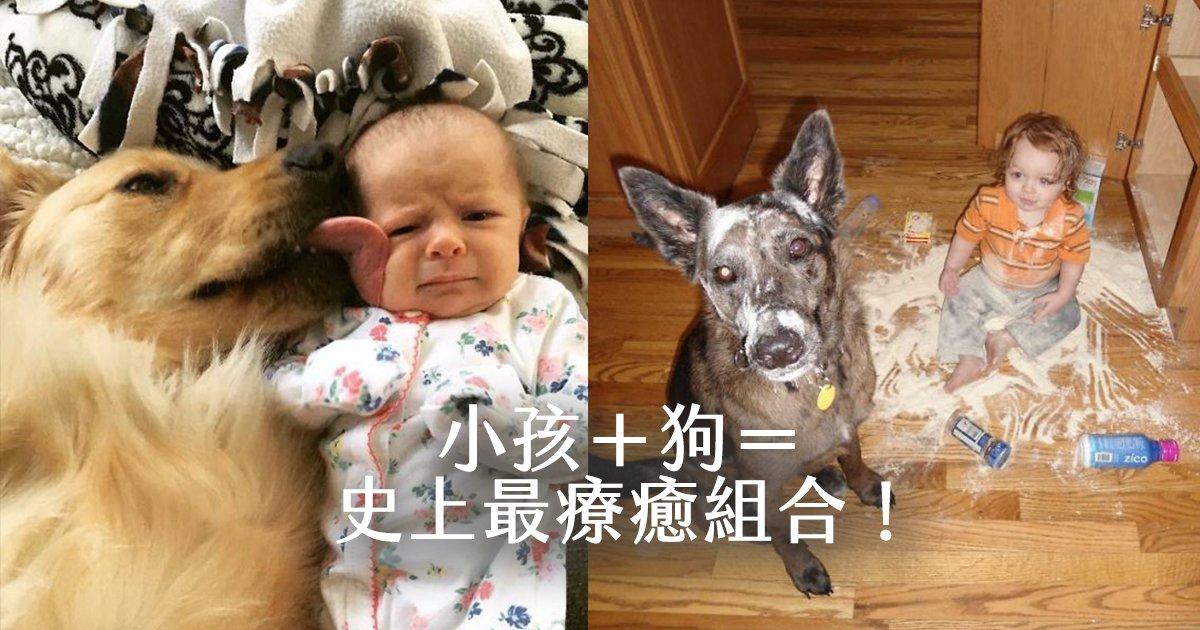 e69caae591bde5908d 1 6 - 小孩和狗的組合跟本可愛加倍、療癒感也加倍,來看看這些孩子們和寵物狗的可愛互動!