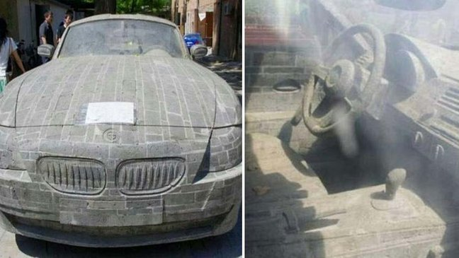 ebacb4eca09c 1 ebb3b5ec82ac 46 1.jpg?resize=1200,630 - 想擁有一台BMW想瘋了!這名青年為了實踐夢想 5 年不間斷將石頭刻成名牌轎車