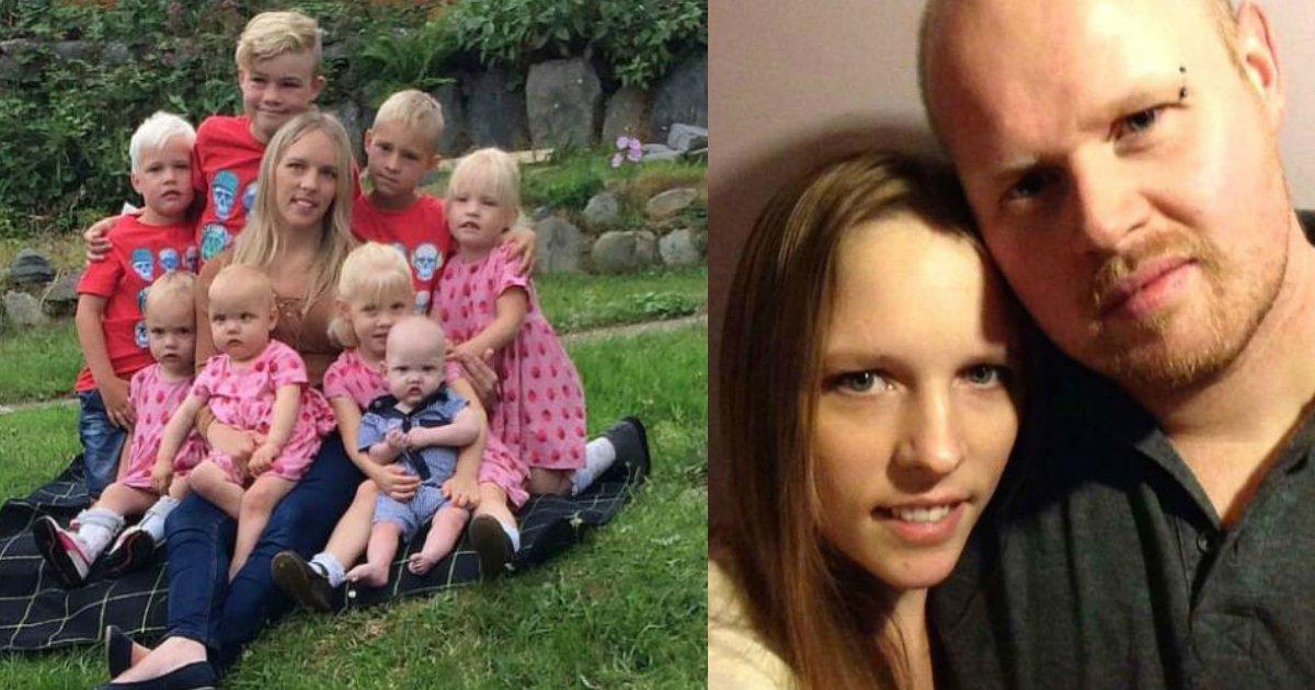 """eightchildren - Esposo muere después de actuar """"Extrañamente"""" en la cama, dejando a su esposa sola con ocho hijos"""