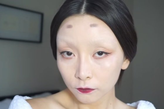 Image result for 眉毛を全部剃る