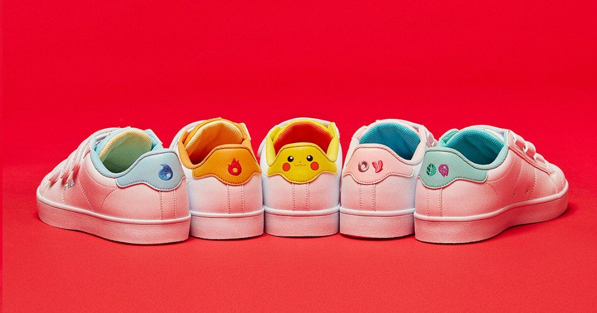 fila.png?resize=1200,630 - A Fila lançou tênis inspirados em Pokémon que vão despertar a criança em você