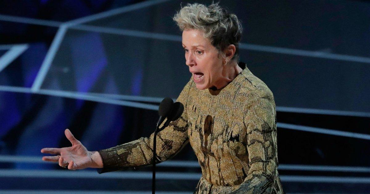 francestumb - O discurso de Frances McDormand que fez todas as mulheres de Hollywood se levantarem