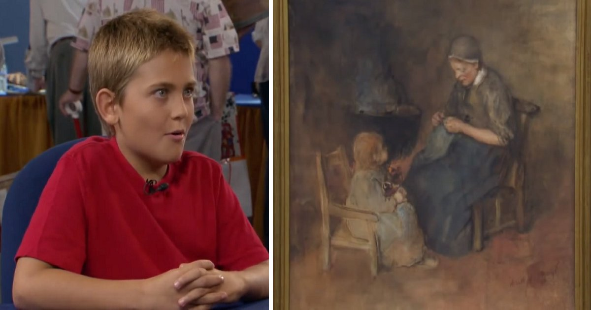 h3fd 1 - Young Boy Buys Painting For $2, Later He Receives Incredible News About Its Real Worth