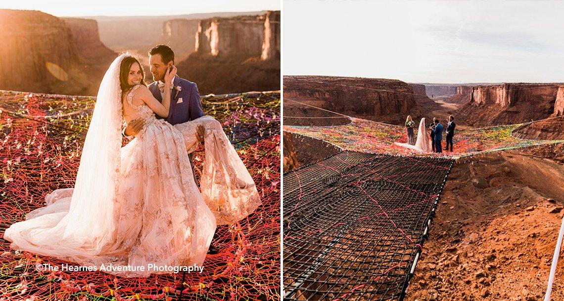 """high.png?resize=1200,630 - Una pareja de recién casados impacta en las redes con sus """"extremas"""" fotografías"""