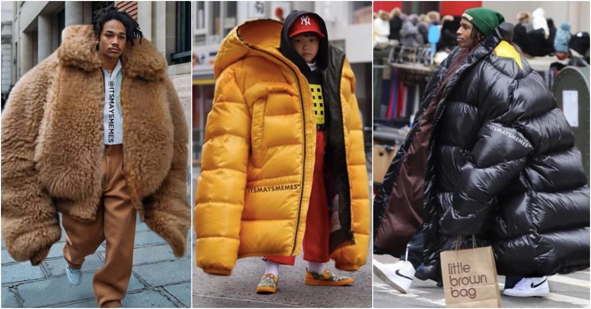 img 5abea794e0cac - OVERSIZE就是要這樣穿?幫潮人硬套大尺碼,惡搞街拍照全球瘋傳中!