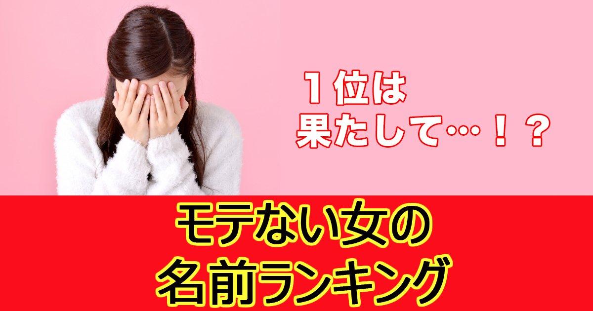 jw surugi 12 1 1.jpg?resize=1200,630 - なぜかモテない女性に多い名前ランキング