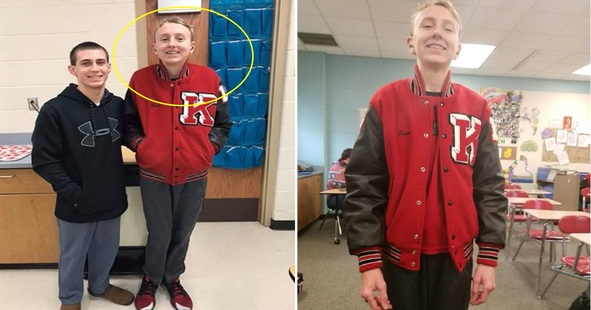 kaleb featured.png?resize=300,169 - Special Needs Student Tries On His Friend's Jacket Everyday, Then One Day He Is Surprised With His Own