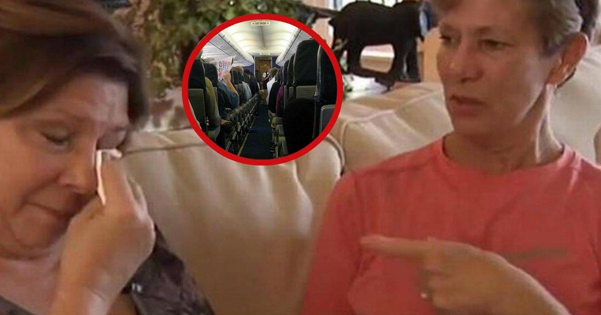 kickedoff.jpg?resize=1200,630 - Deux sœurs voyagent pour voir leur père mourant, mais l'équipage les expulsent de l'avion.