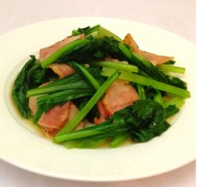 小松菜&ベーコンのバターガーリックソテー 에 대한 이미지 검색결과
