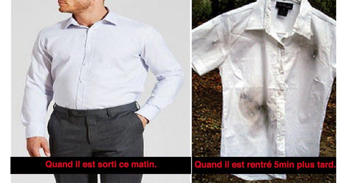 mainphoto chemise 1 - Son mari rentre à la maison avec la chemise sale, l'épouse suspicieuse vérifie alors la caméra de surveillance