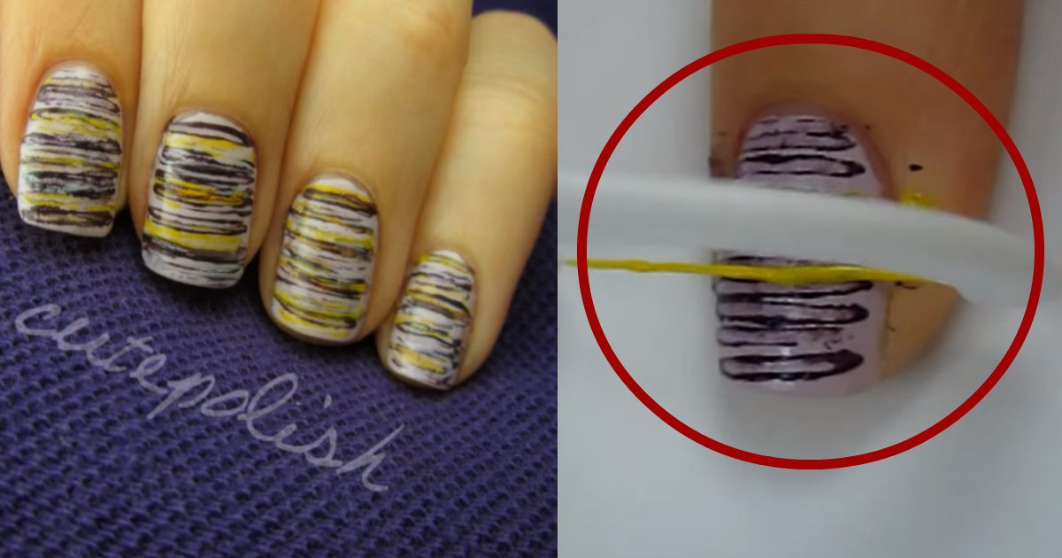 paintnails - Woman Shares A Simple Trick On How To Paint Nails Perfectly By Using Dental Floss