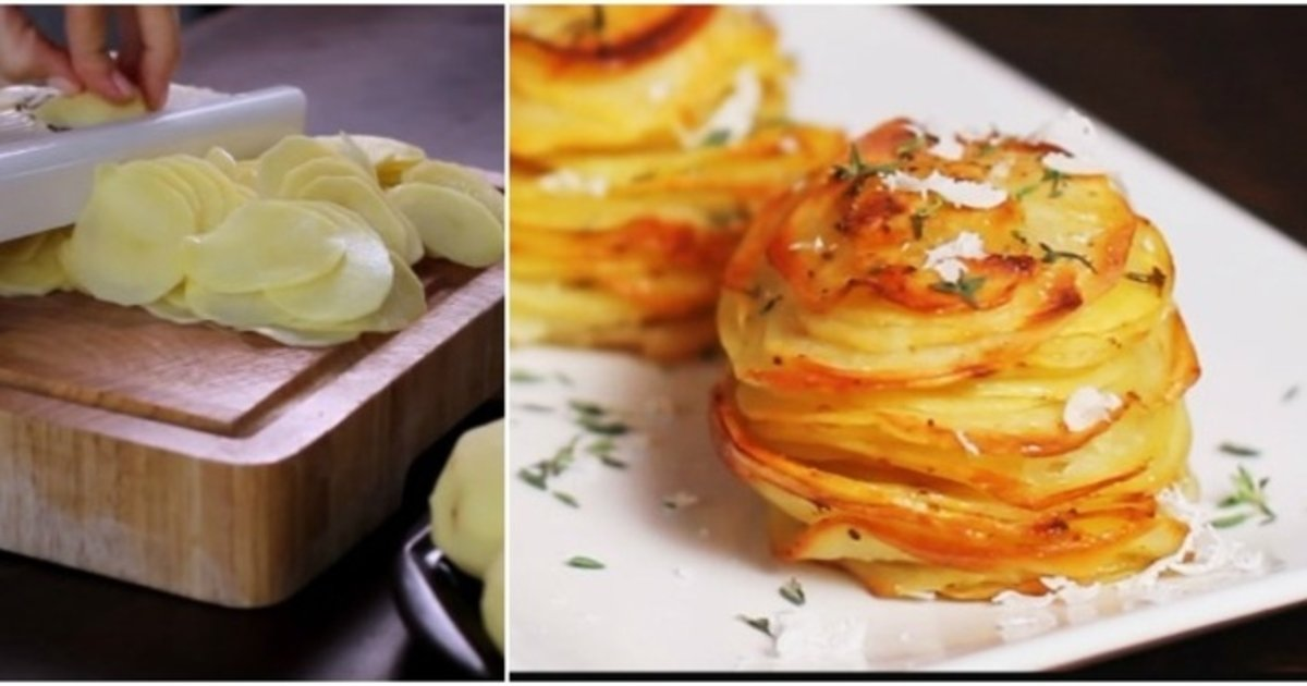 parmesanthumb2 - Get the Crowd Going with this Delightful Parmesan Potato Stacks Recipe