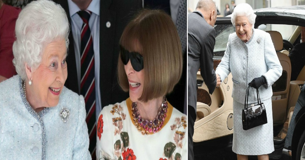 queen featured - Her Majesty The Queen Arrived Unannounced At The London Fashion Week With Anna Wintour