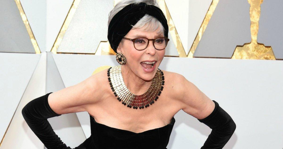 ritathumb.png?resize=1200,630 - Rita Moreno usa o mesmo vestido de 56 anos no tapete vermelho do Oscar