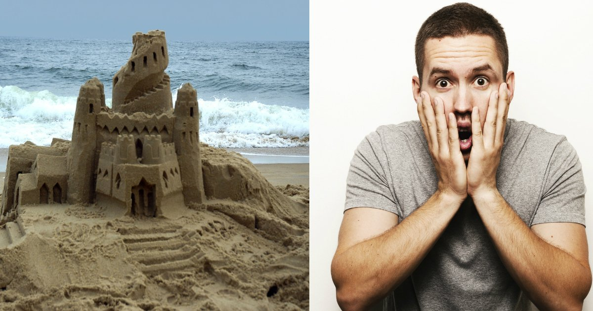 sandcastle - Man Lives In Giant Sandcastle On The Beach For 22 Years