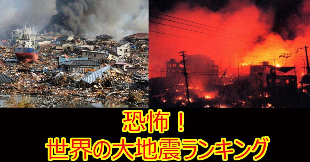 sekaizishin - 【衝撃】世界の地震規模ランキング12
