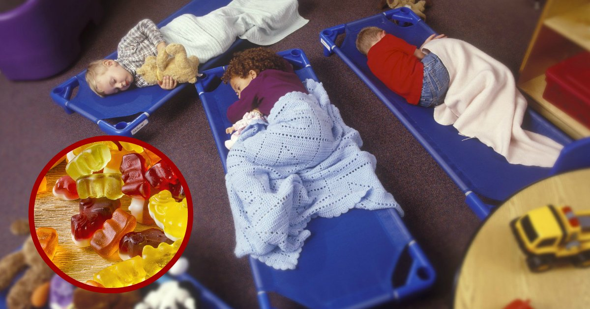 sleepinggummies.jpg?resize=1200,630 - Three Daycare Workers Arrested After Giving Kids Melatonin Gummies Before Nap Time