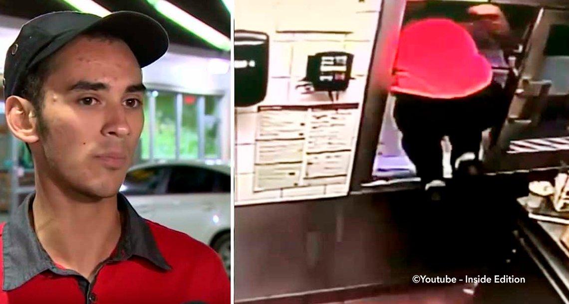 template covermac - Mujer llega en auto a McDonald's, el cajero escucha gritos de un niño y hace heroica acción