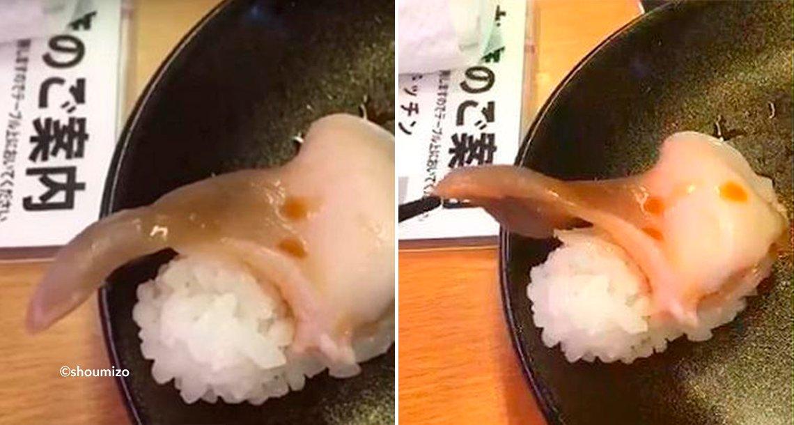 """template coversusu - Fue a comer sushi y se dio cuenta que el """"pescado"""" estaba vivo"""