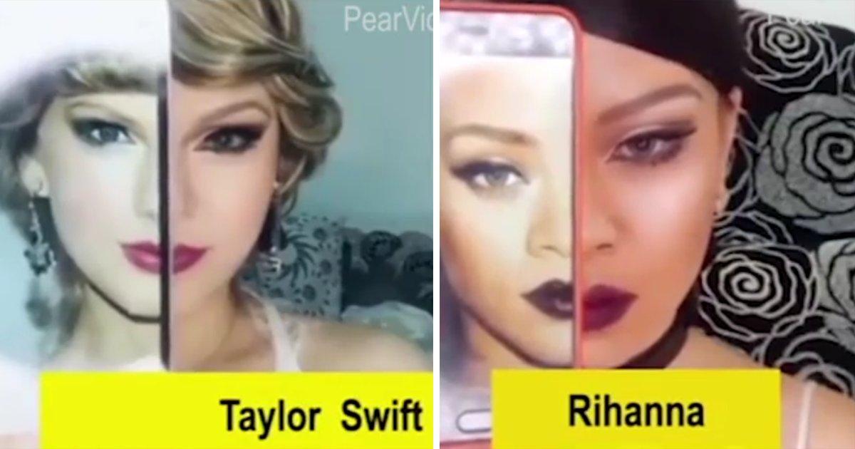 thumbnail5gaq4ttw.png?resize=1200,630 - Essa garota asiática consegue se transformar em diversas celebridades apenas usando maquiagem!