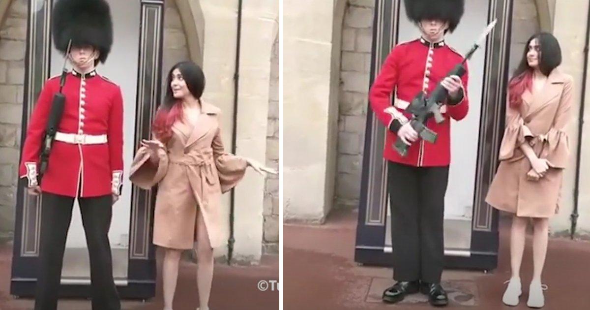 thumbnail5gaq4ttw5.png?resize=1200,630 - É isso que acontece quando você decide brincar com um soldado da Rainha (vídeo)