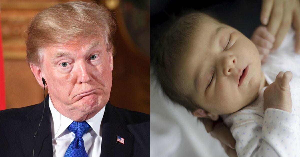 trumpbaby.jpg?resize=1200,630 - L'étrange déclaration de Trump disant qu'il ne veut plus de naissance au 9ème mois de grossesse laisse songeur