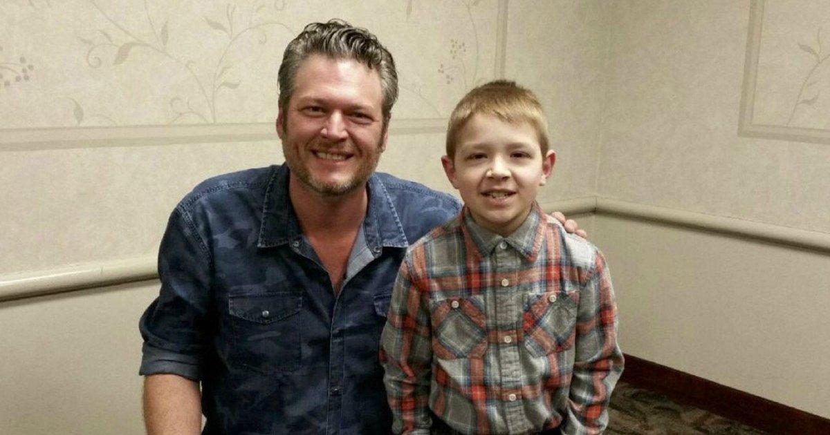 untitled 1 20.jpg?resize=1200,630 - Atteint d'un cancer à 8 ans, il rencontre son idole Blake Shelton lors d'un concert.