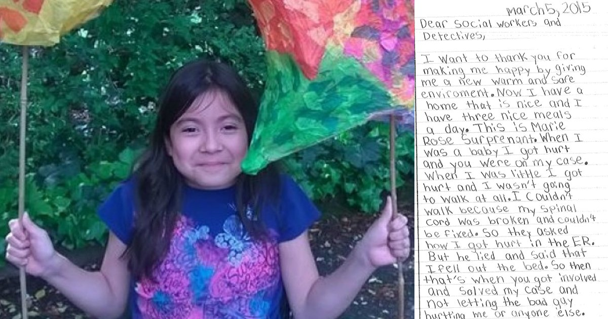 untitled 1 43.jpg?resize=648,365 - Saved From Abuse As A Baby, This 8-Year-Old Lets Social Workers Know How Much It Meant To Her And Her Letter Made Everyone In Tears
