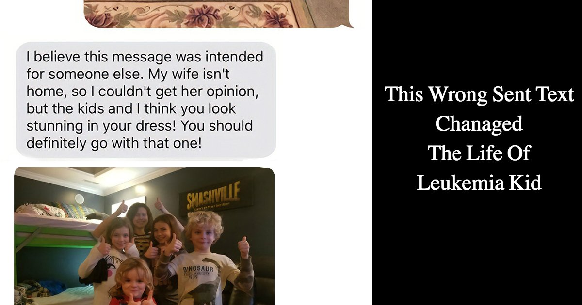 untitled 1 64.jpg?resize=412,232 - A Text Message Sent To The Wrong Number Changed The Life Of A Child Having With Leukemia