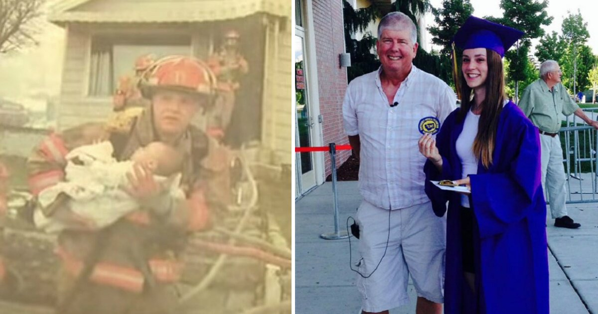 untitled 1 69 - Retired Fireman Attends High School Graduation Of The Baby Girl He Saved 17 Years Ago