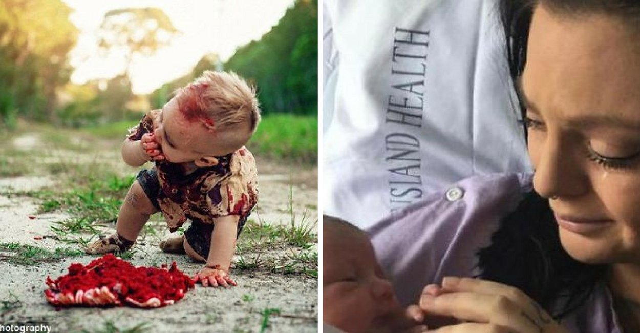 untitled design 11.png?resize=1200,630 - Após postar fotos de seu filhinho com a temática zumbi, mãe recebe ódio da Internet - mas ela tinha uma revelação emocionante a fazer