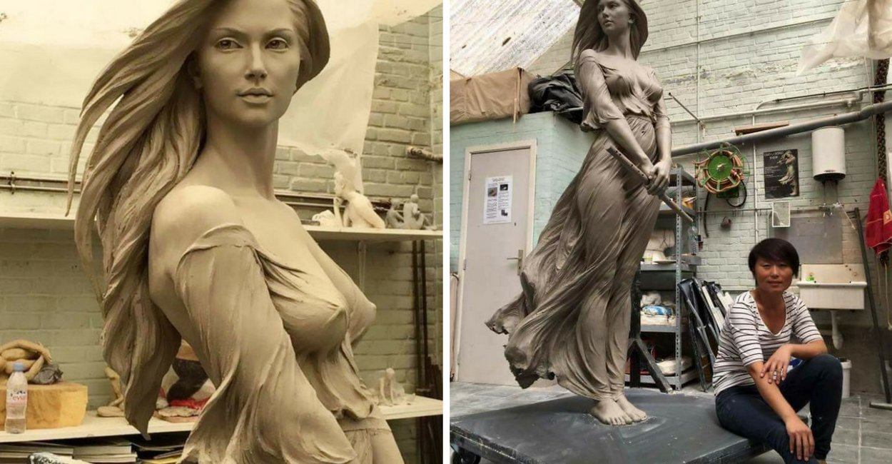 "untitled design 5 - Artist Creates Life-Size Sculptures Of Women And A Sexist Man Claims Only ""Men Of the West"" Can Create Such Amazing Sculpture"